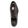Tmavě hnědé kožené polobotky bata, hnědá, 824-4983 - 15