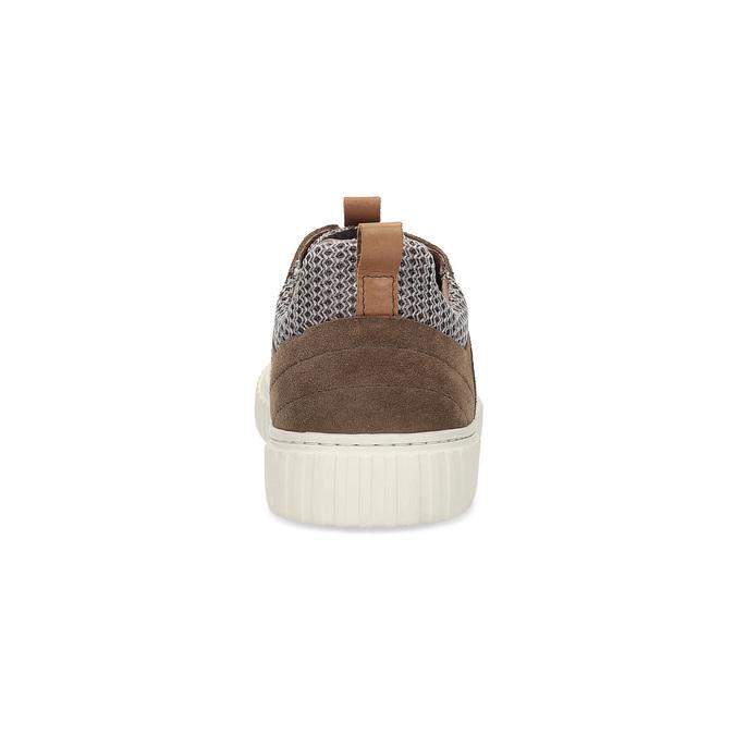 Ležérní tenisky z broušené kůže bata, hnědá, 843-4637 - 15