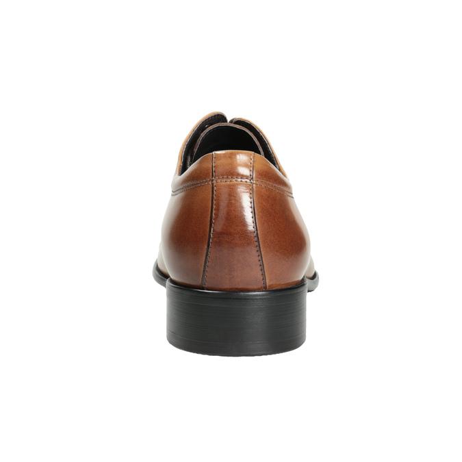 Pánské kožené Derby polobotky hnědé bata, hnědá, 826-3983 - 16