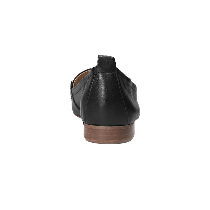 Kožené dámské mokasíny s přezkou bata, černá, 516-6619 - 15