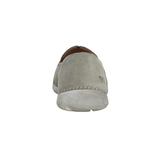Pánské kožené Slip-on boty weinbrenner, šedá, 836-2602 - 15