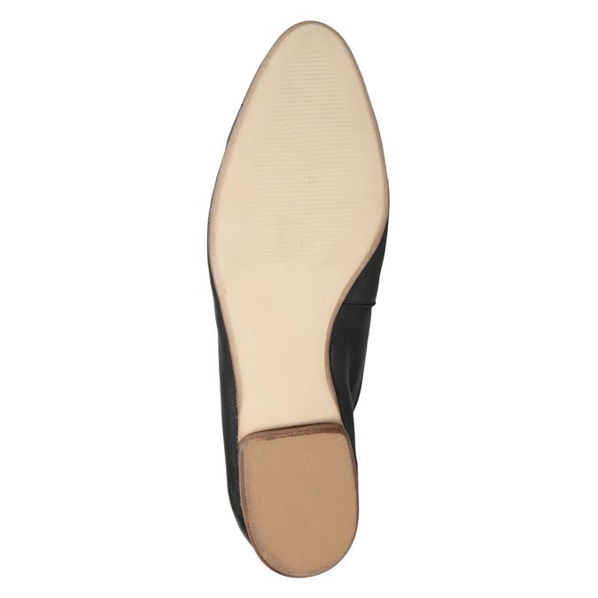 Kožené dámské mokasíny s přezkou bata, černá, 516-6619 - 19