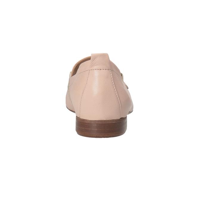 Kožené dámské mokasíny růžové bata, 516-5619 - 15