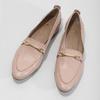 Kožené dámské mokasíny růžové bata, 516-5619 - 16
