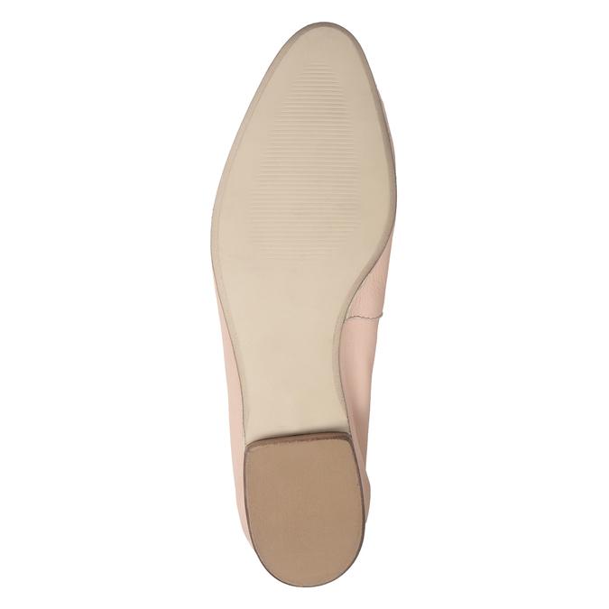 Kožené dámské mokasíny růžové bata, 516-5619 - 19
