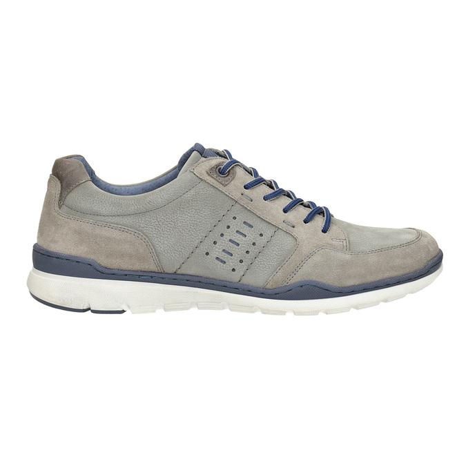 Pánské kožené tenisky bata, šedá, 846-2639 - 16