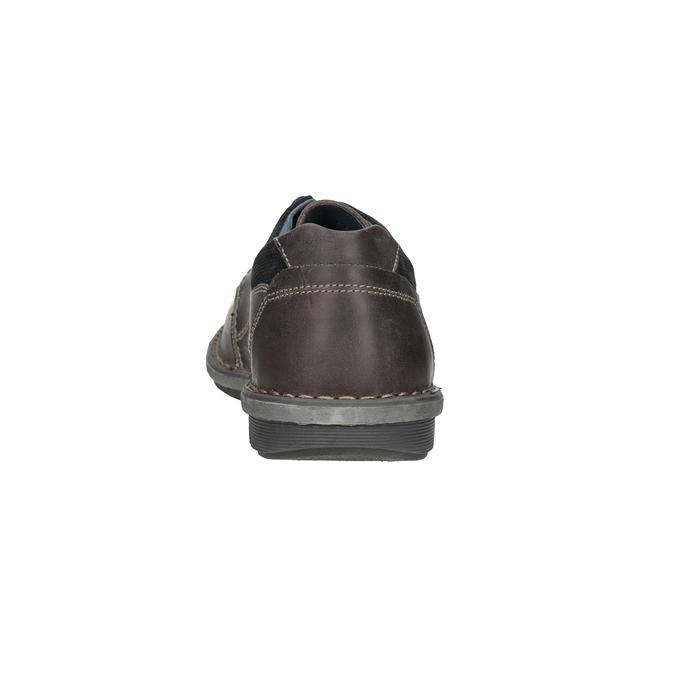 Kožené pánské ležérní polobotky bata, 826-2654 - 15