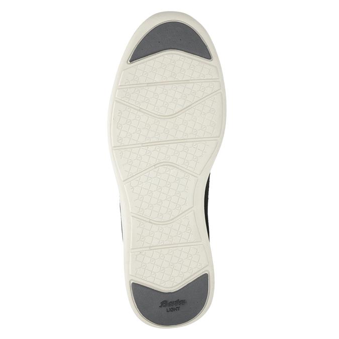 Kožené pánské tenisky s perforací bata-light, šedá, 844-2161 - 19