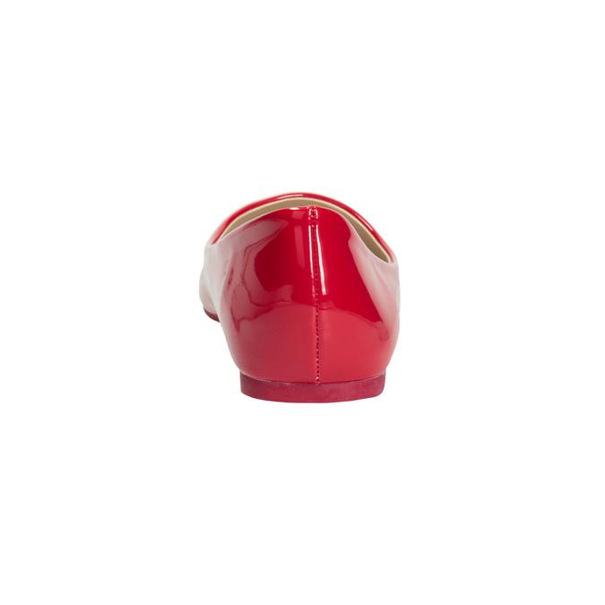 Červené lakované baleríny bata, červená, 521-0602 - 16