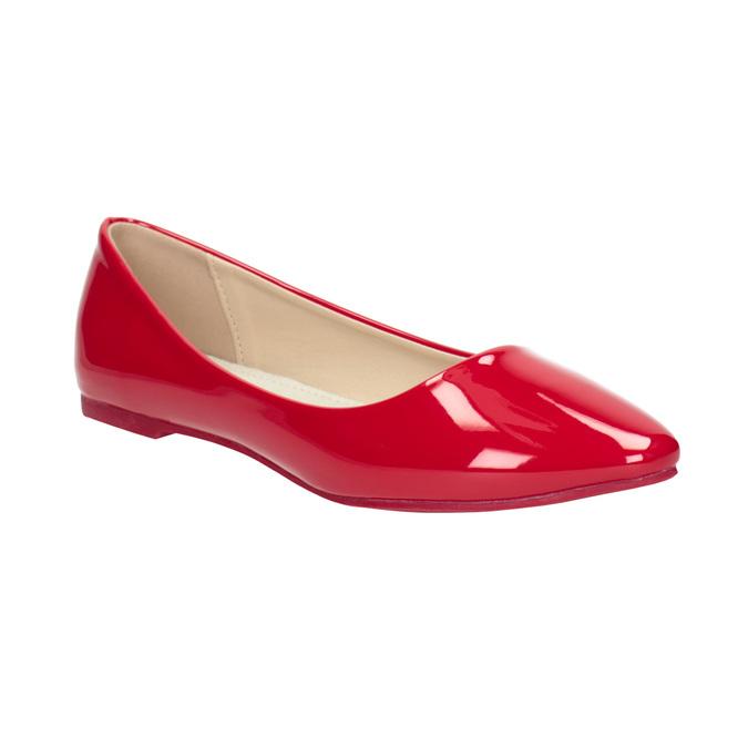 Červené lakované baleríny bata, červená, 521-0602 - 13