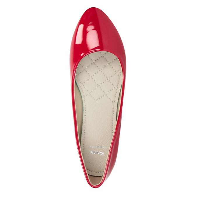 Červené lakované baleríny bata, červená, 521-0602 - 15