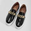 Kožená Slip-on obuv na flatformě bata, černá, 518-6601 - 16