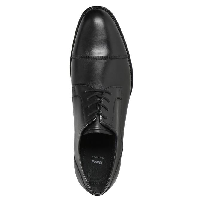 Kožené pánské Derby polobotky bata, černá, 824-6995 - 15