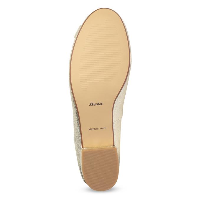 Kožené baleríny na nízkém podpatku bata, zlatá, 526-8420 - 18