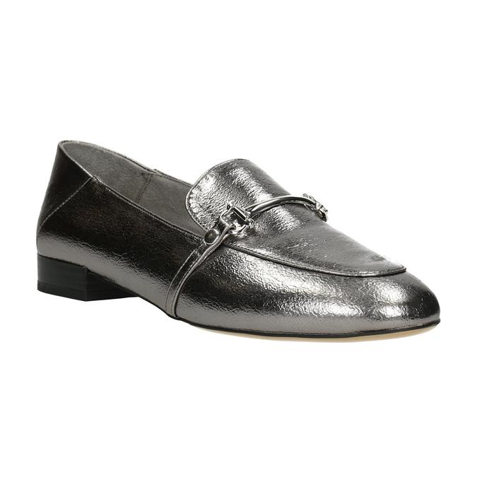 Stříbrné mokasíny s přezkou bata, stříbrná, 511-1609 - 13