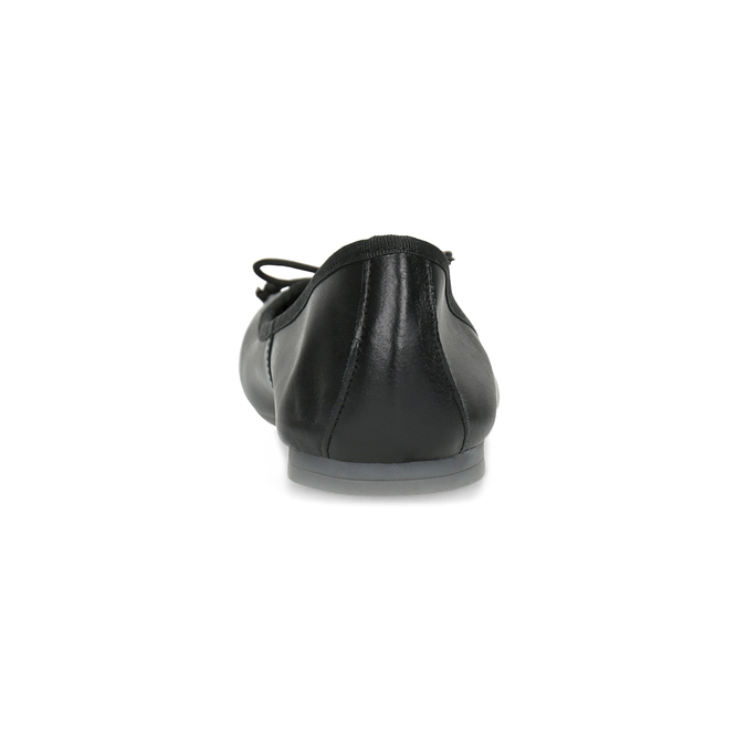 Kožené černé baleríny s mašličkou bata, černá, 524-6144 - 15