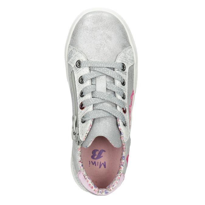 Dívčí tenisky s výšivkou mini-b, stříbrná, 321-1381 - 15