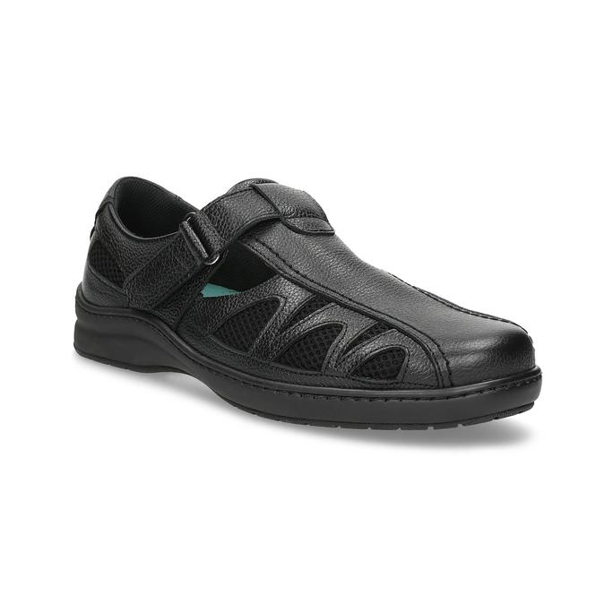 Pánské kožené sandály v elegantním designu pinosos, černá, 864-6625 - 13