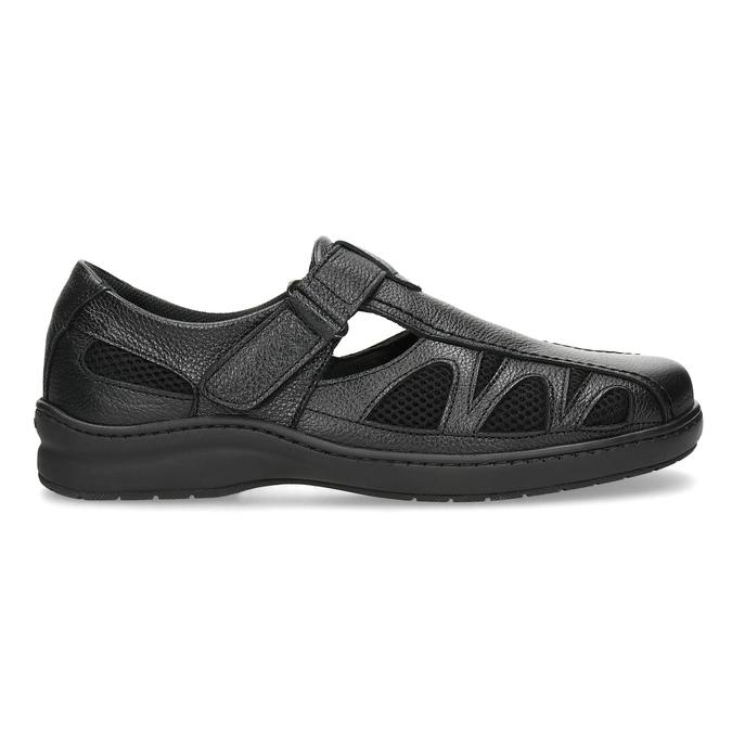 Pánské kožené sandály v elegantním designu pinosos, černá, 864-6625 - 19