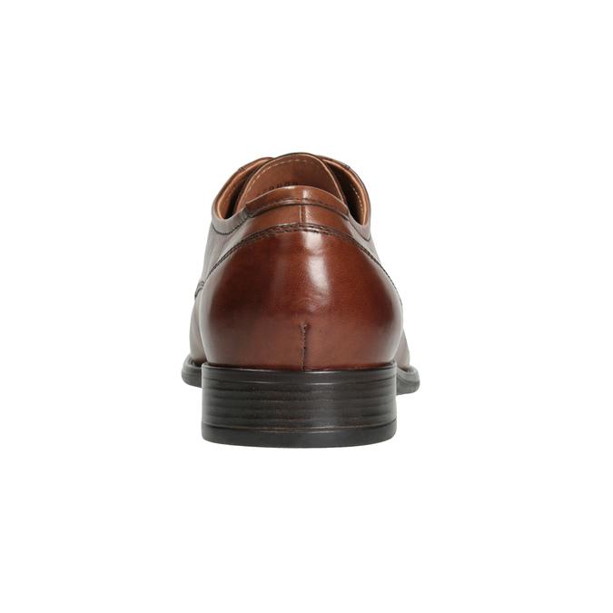 Kožené pánské polobotky s prošitím bata, hnědá, 826-4995 - 16