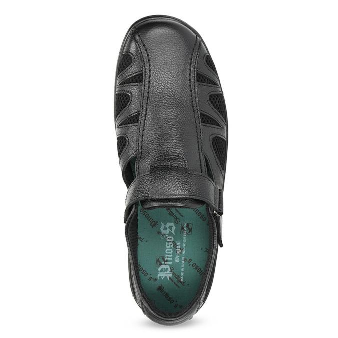 Pánské kožené sandály v elegantním designu pinosos, černá, 864-6625 - 17