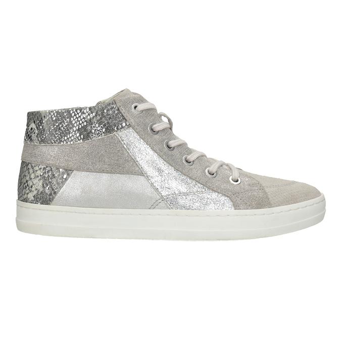 Kotníčkové kožené tenisky bata, šedá, 546-2608 - 26