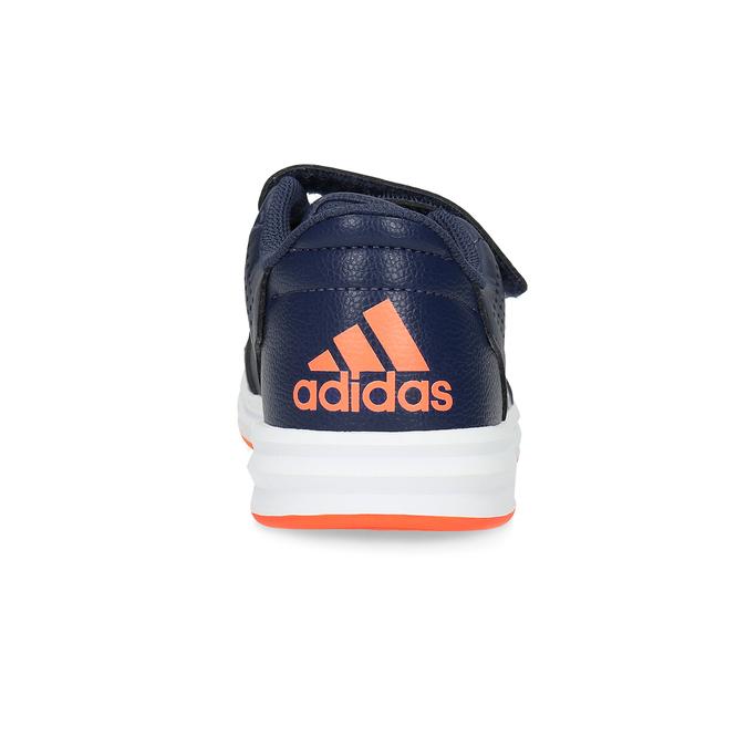 Modré dětské tenisky na suché zipy adidas, modrá, 301-9151 - 15