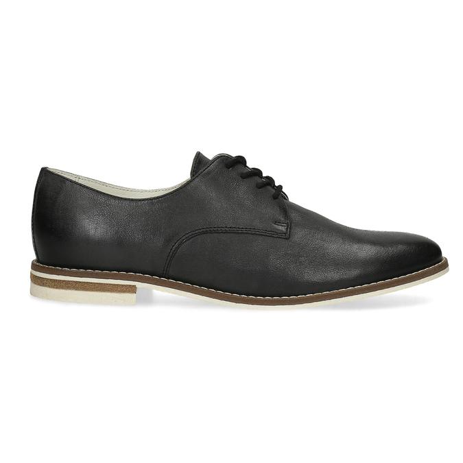 Kožené dámské polobotky bata, černá, 526-6650 - 19