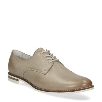 Kožené dámské polobotky bata, béžová, 526-8650 - 13