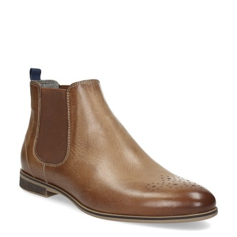 Dámská kožená Chelsea obuv bata, hnědá, 596-3684 - 13