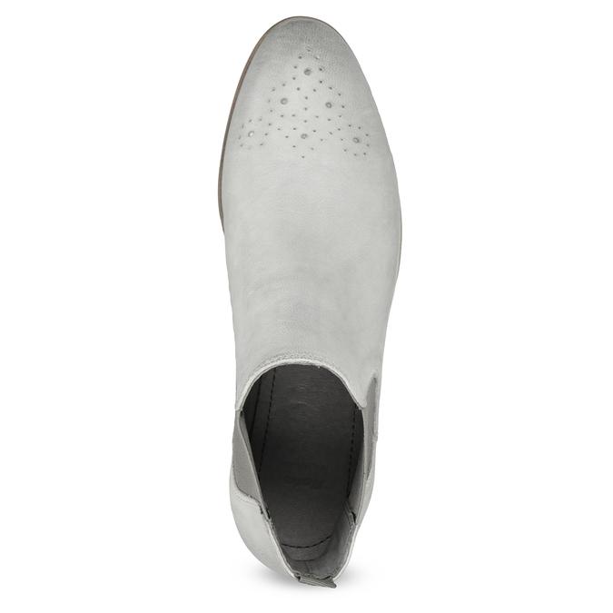 Kožená dámská Chelsea obuv bata, šedá, 596-1684 - 17