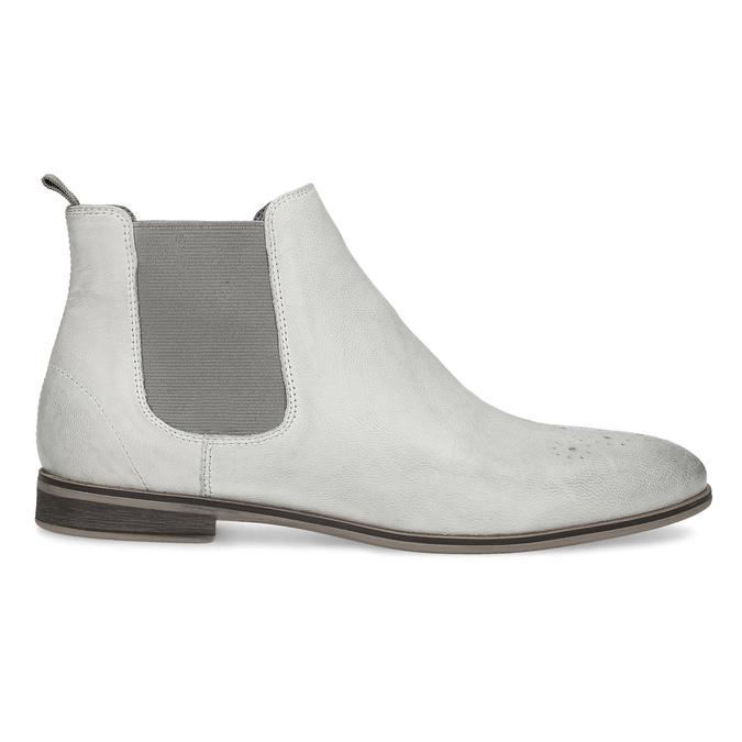 Kožená dámská Chelsea obuv bata, šedá, 596-1684 - 19