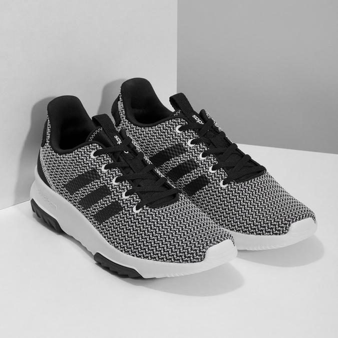 Černo-bílé tenisky s tkaným vzorem adidas, černá, 809-1101 - 26