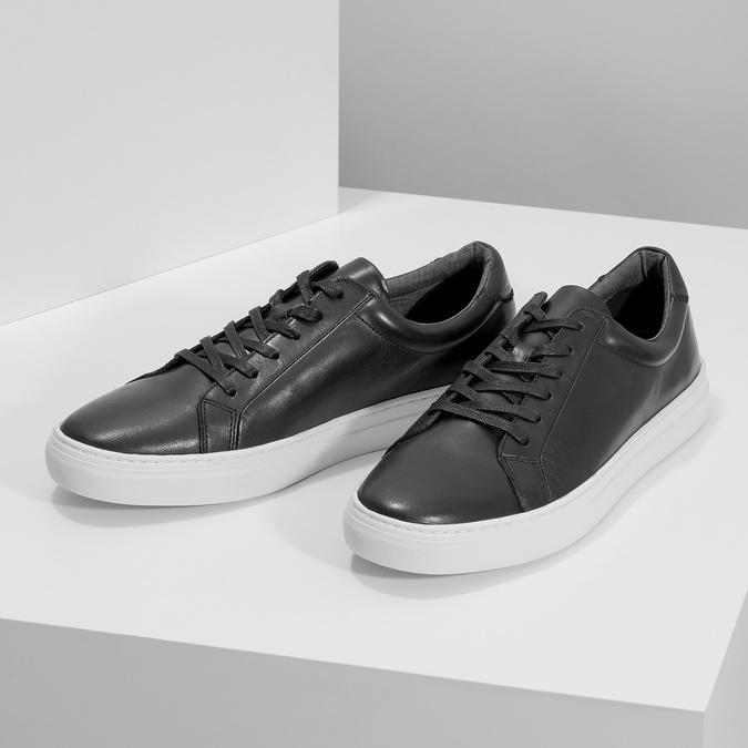 Kožené pánské tenisky černé vagabond, černá, 824-6030 - 16