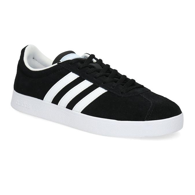 Černé dámské tenisky z broušené kůže adidas, černá, 503-6379 - 13