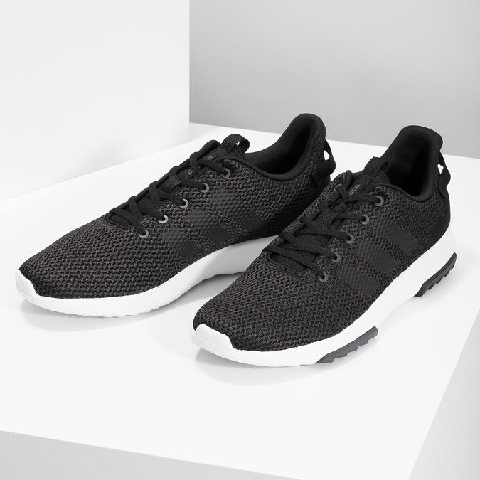 Černé pánské tenisky ve sportovním designu adidas, černá, 809-6101 - 16