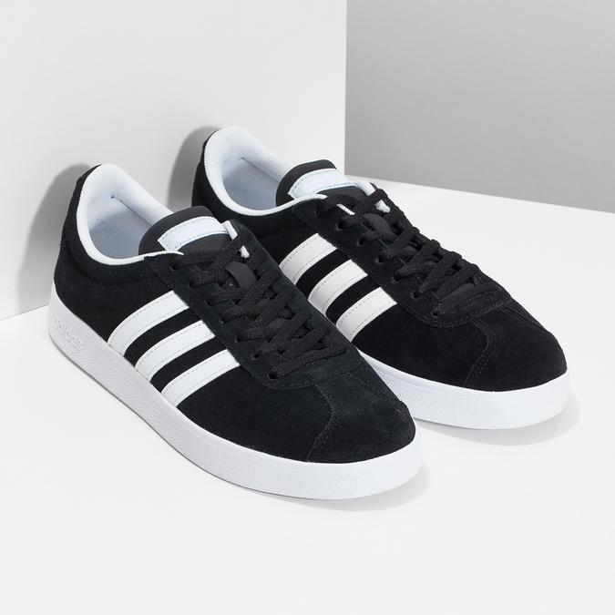 Černé dámské tenisky z broušené kůže adidas, černá, 503-6379 - 26