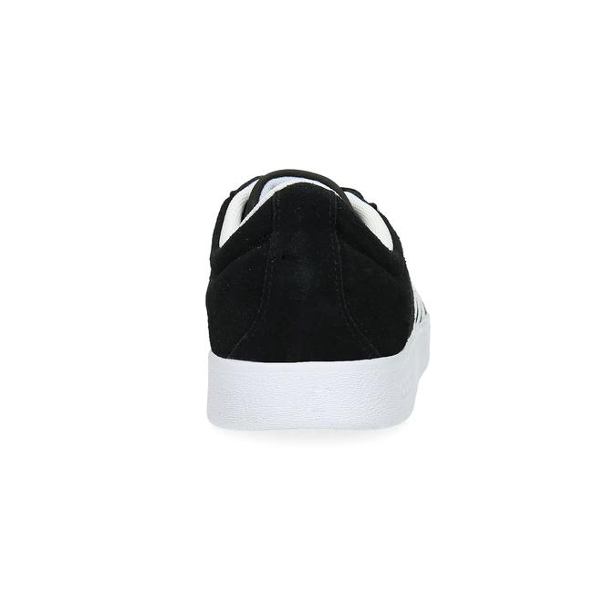 Černé dámské tenisky z broušené kůže adidas, černá, 503-6379 - 15