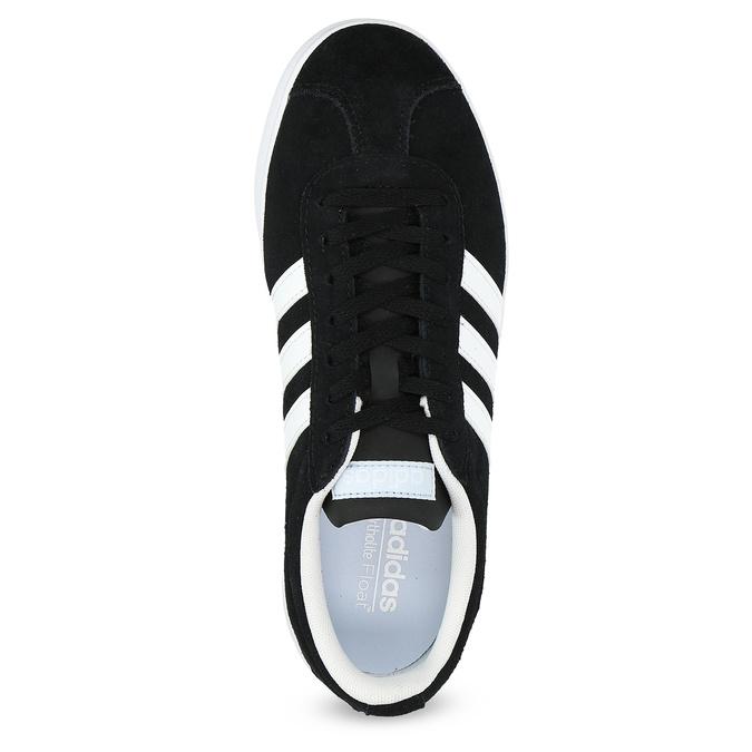 Černé dámské tenisky z broušené kůže adidas, černá, 503-6379 - 17