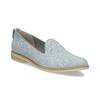 Kožená dámská Loafers obuv bata, modrá, 519-9605 - 13
