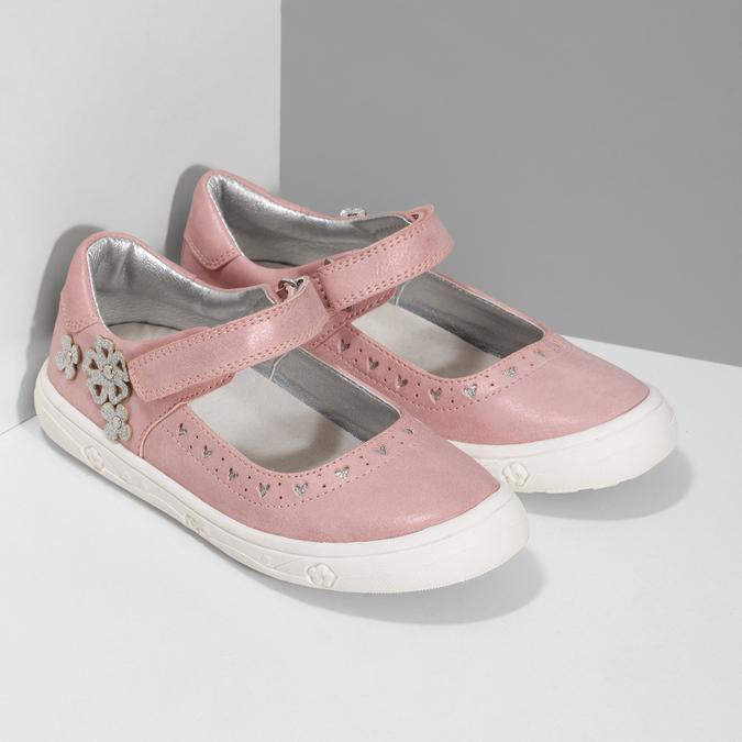 Růžové dívčí baleríny mini-b, růžová, 221-5216 - 26