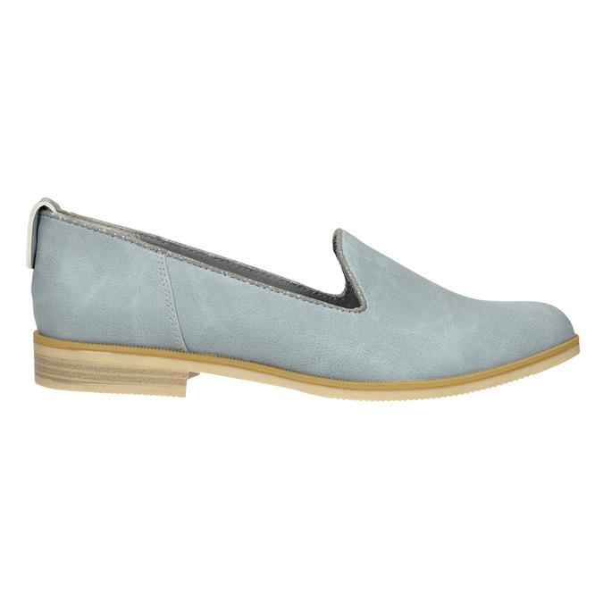 Kožená dámská Loafers obuv bata, modrá, 519-9605 - 26