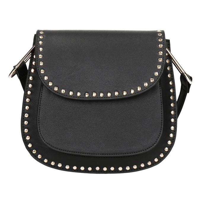 Černá Crossbody kabelka se cvoky bata, černá, 961-6844 - 26
