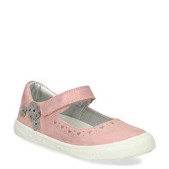 Růžové dívčí baleríny mini-b, růžová, 221-5216 - 13