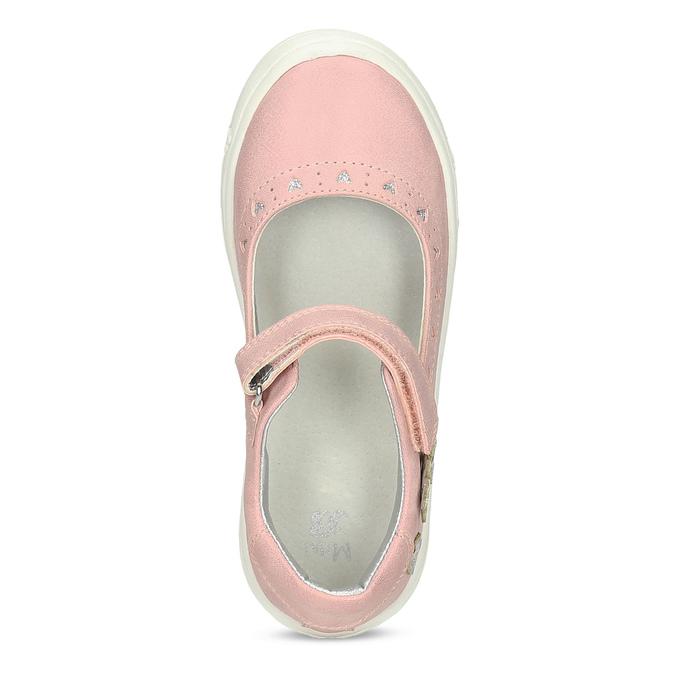 Růžové dívčí baleríny mini-b, růžová, 221-5216 - 17