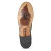 Pánské kožené polobotky bez šněrování a-s-98, khaki, 826-7019 - 18