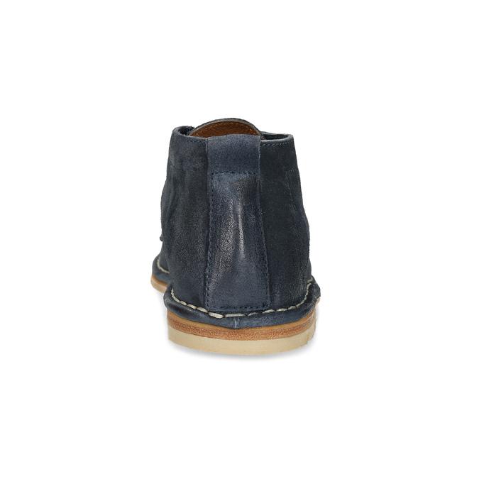 Kožená kotníčková obuv pánská modrá a-s-98, modrá, 826-9003 - 15