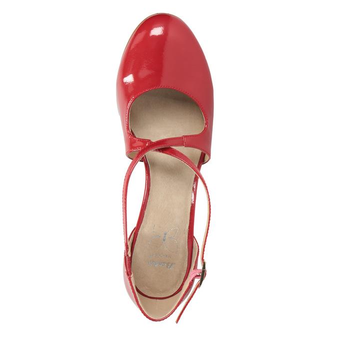 Lakované dámské lodičky insolia, červená, 721-5611 - 15
