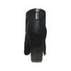 Kožené lodičky s perforací insolia, černá, 723-6605 - 15