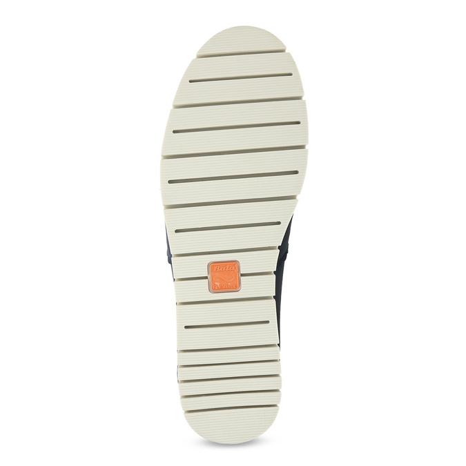 Kožené Slip-on na pružné podešvi flexible, modrá, 536-9602 - 18